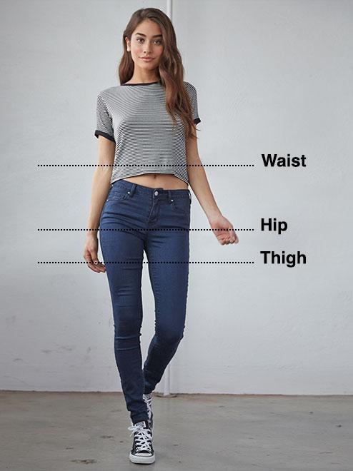 Women\u0027s Jeans Size Chart
