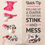 Quick Tip – Rolling Up A Diaper To Contain Stink And Mess