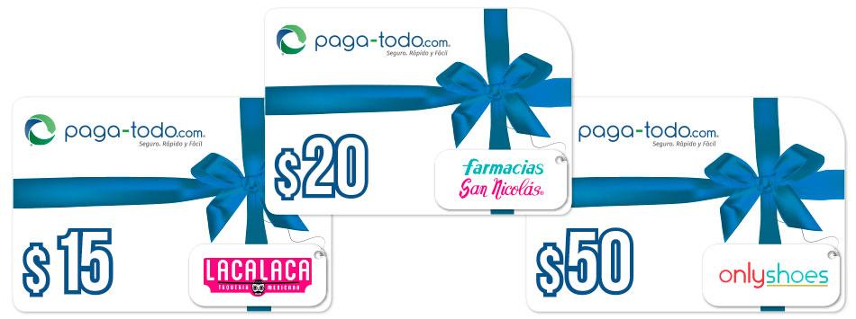 Compra regalos a tus familiares y amigos en El Salvador Paga-Todo