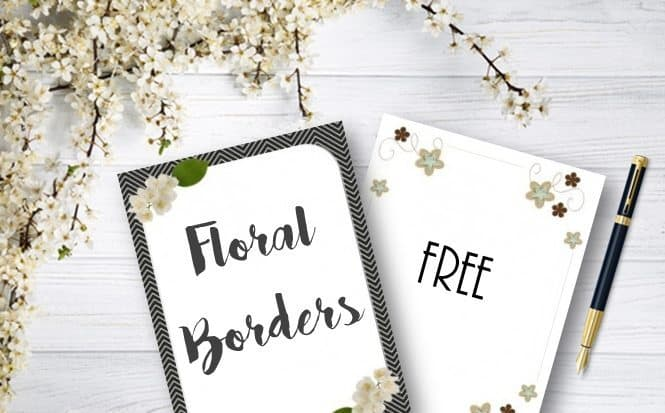 Free flower border template - free paper templates with borders