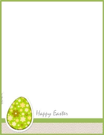 Free Easter Border - Customizable and Printable - microsoft word easter egg