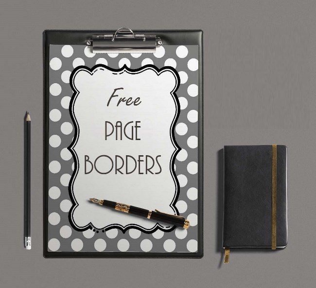 Free Borders and Backgrounds Instant Download  No Registration