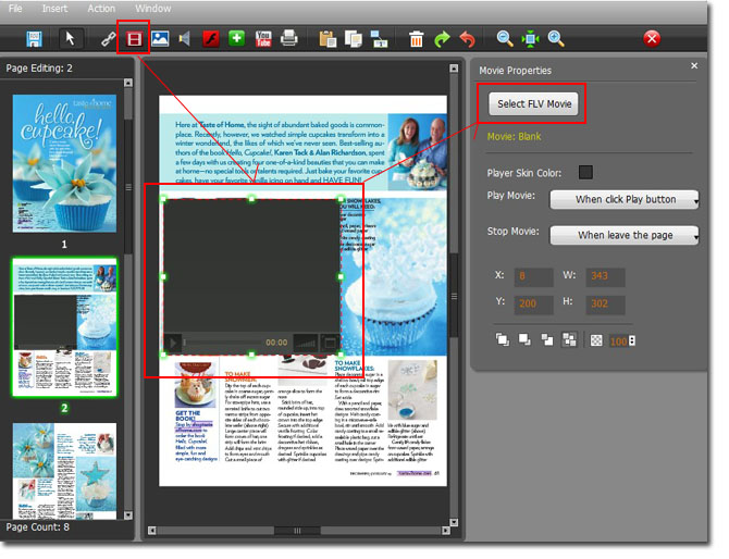 page flip book maker How to make a PDF to flash flipping catalog