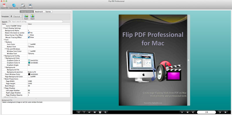 flip pdf pro mac manual template settings - manual design templates