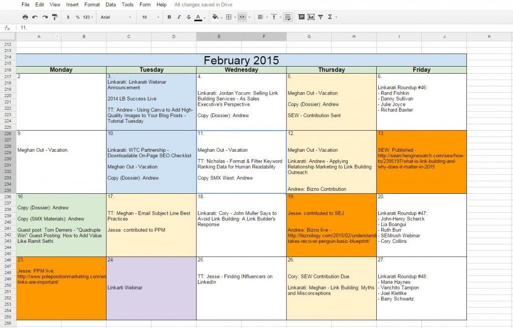 How To Create a Free Editorial Calendar Using Google Docs - Tutorial - create a picture calender