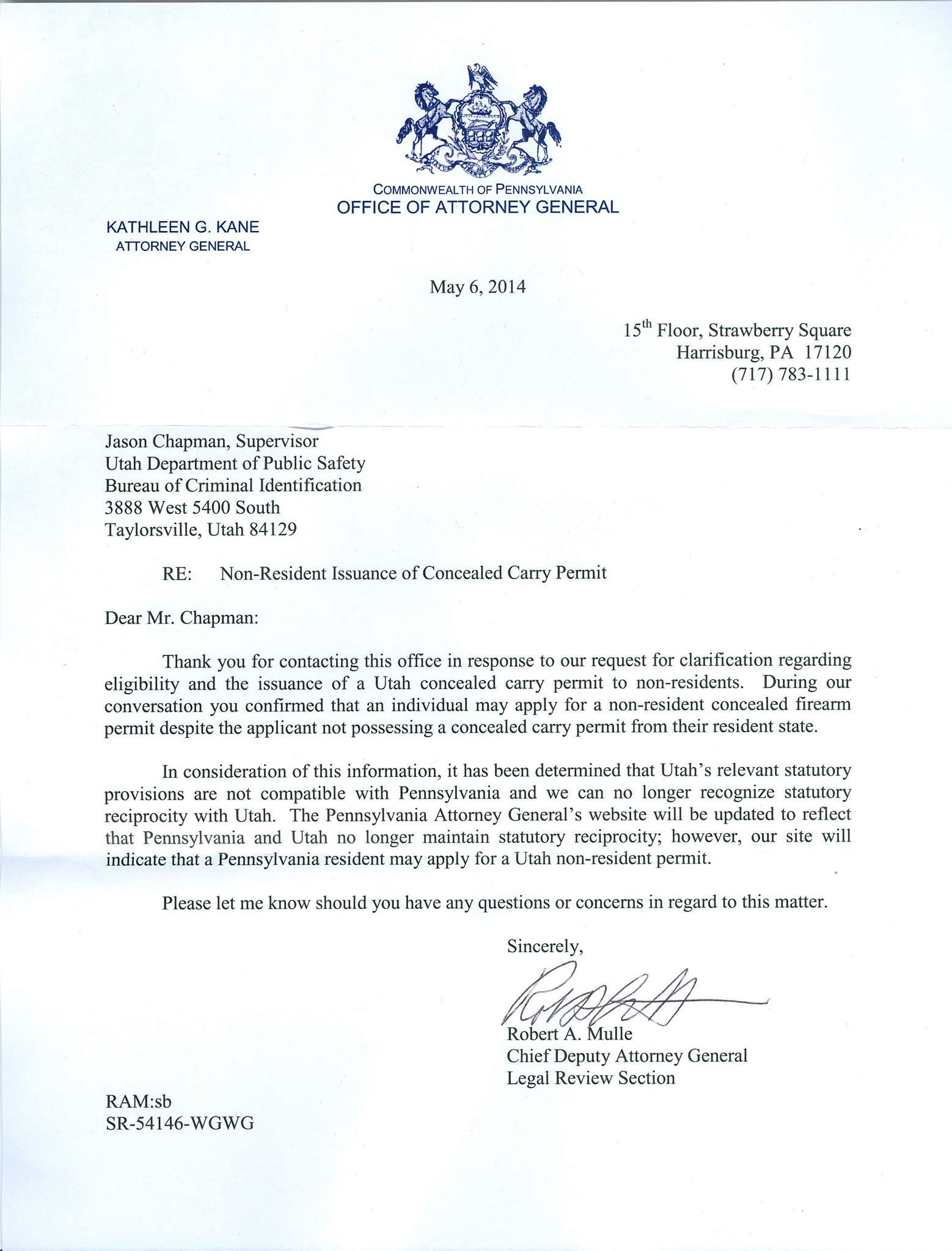 pistol permit letter of recommendation