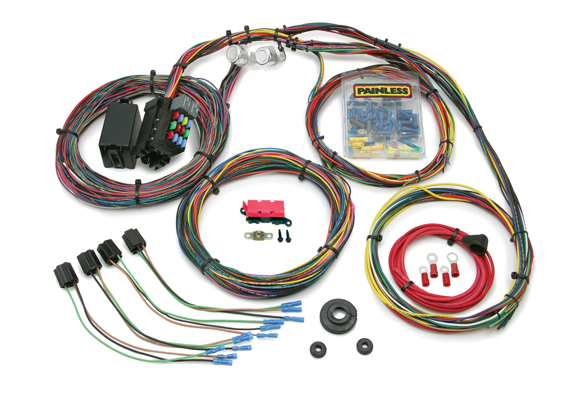 21 Circuit Customizable 1966-76 Mopar Chassis Harness Painless