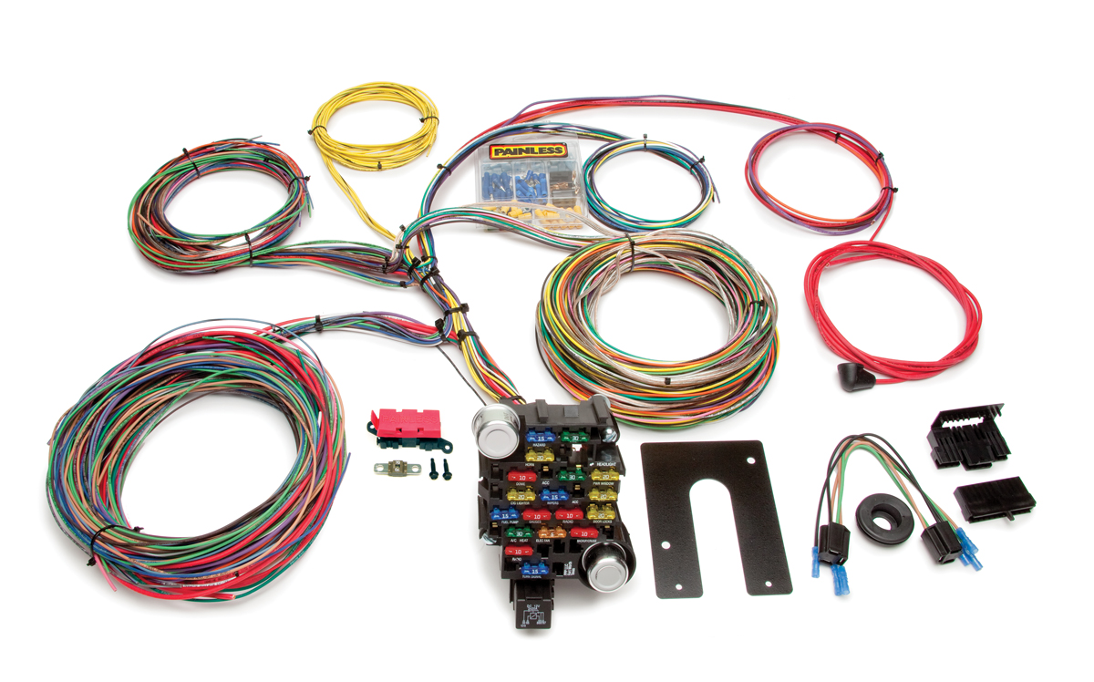 28 Circuit Classic-Plus Customizable Chassis Harness - Key In Dash