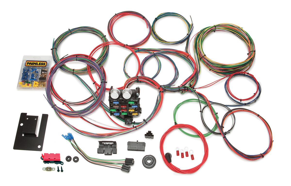 21 Circuit Classic Tri-Five Chevy Chassis Harness Painless Performance