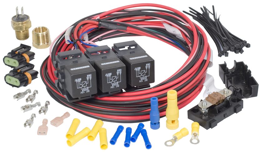 Dual Fan-Dual Activation Fan Relay Kit (195 degrees F On/185 degrees
