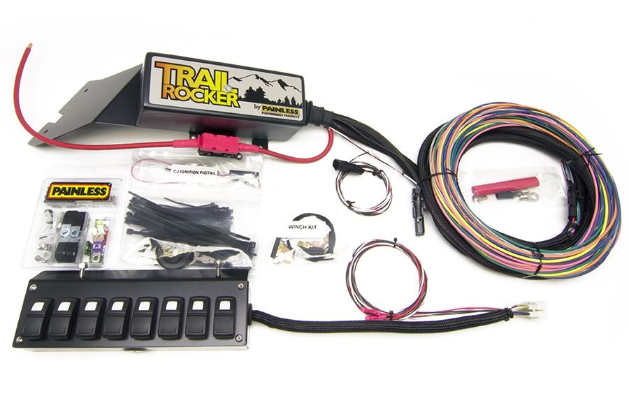 1976-86 Jeep CJ - Trail Rocker System w/Underdash 8 Switch