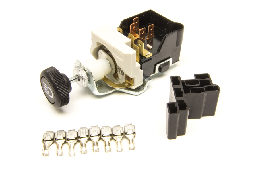 Headlight Switch/Black Knob/GM Style w/Dimmer  Dome Light