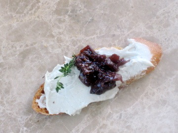 Fig, Onio and Blue Cheese Brsuchetta