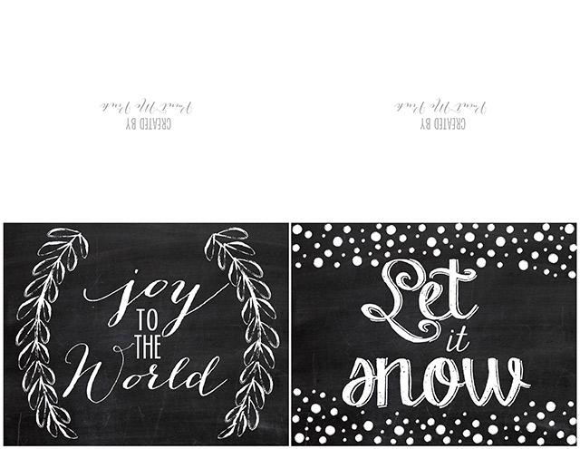 Free Christmas Printable Greeting Cards - Paint Me Pink - christmas cards black and white