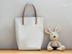 林口-皮革手創課程-白色托特包-5