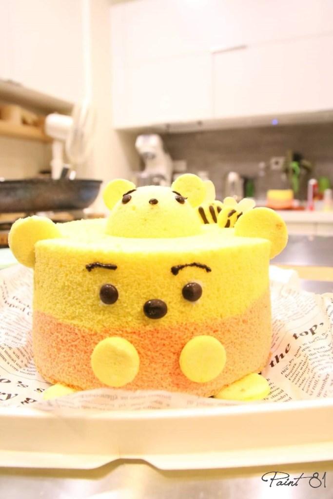 造型戚風蛋糕 (維尼)