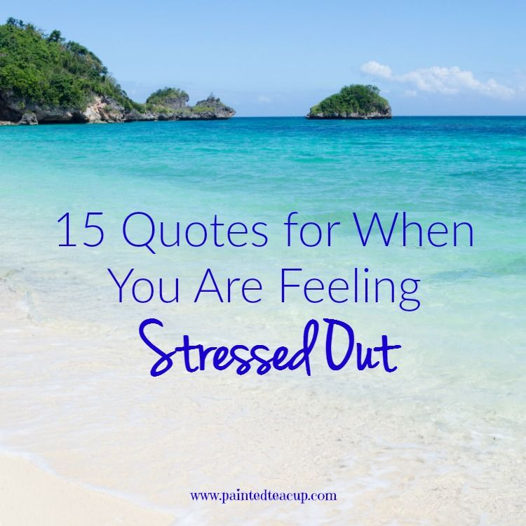 Here are some of the best quotes for you to read when you are feeling stressed out, frustrated and overwhelmed! Click to read 15 Quotes for When You Are Feeling Stressed Out.