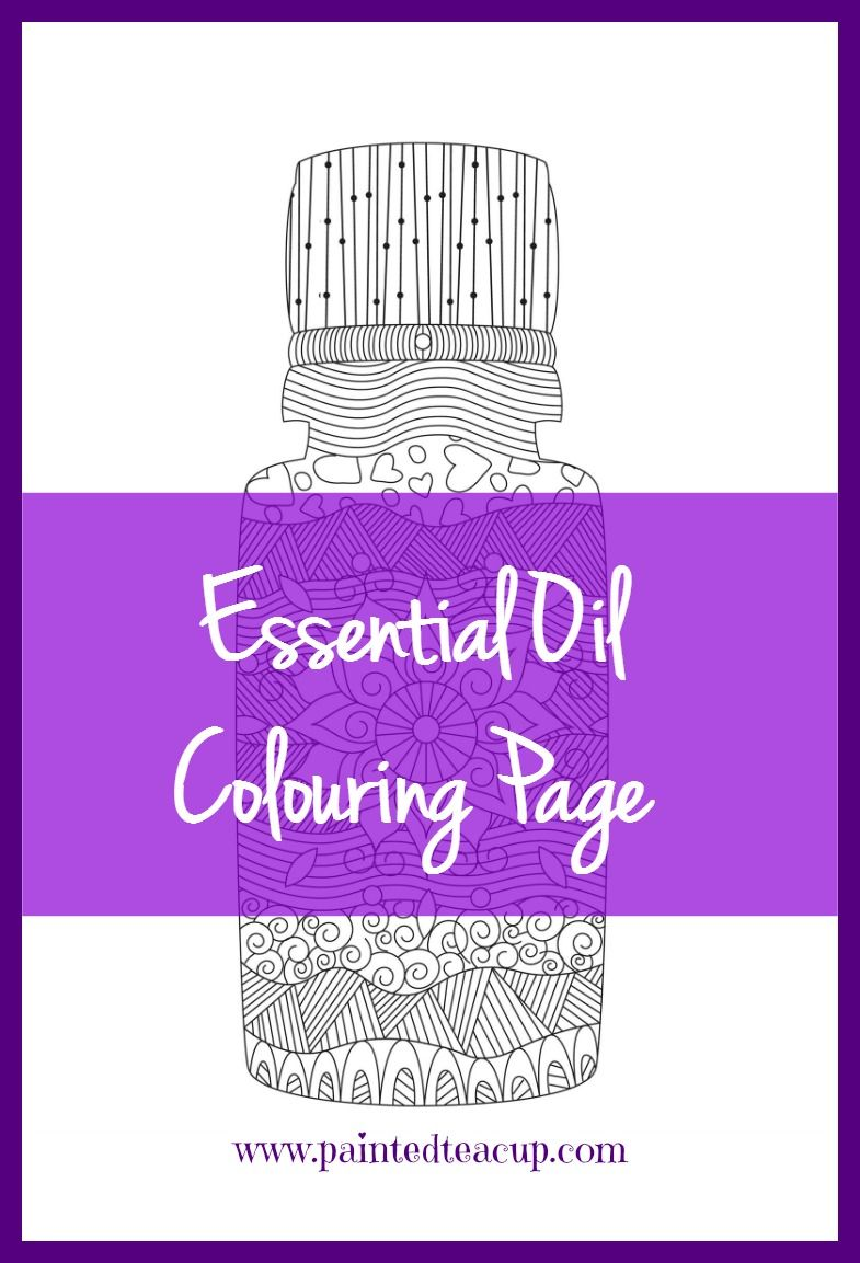 Essential Oil Colouring Page to Help You Relax Unwind