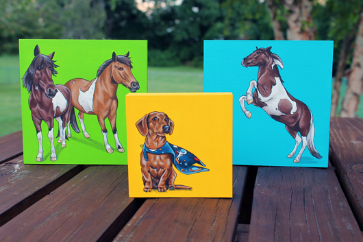Pony Paintings from Yellow Brick Home - Painting Pony