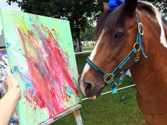 Painting Pony Chincoteague Minnow paints at Ryerss Farm