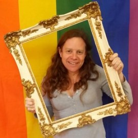 Katy Jon Went in the art frame at Norwich Pride without Prejudice exhibition