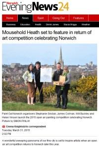 Paint Out Norwich 2015 announcement, Norwich Evening News, 31 March 2015