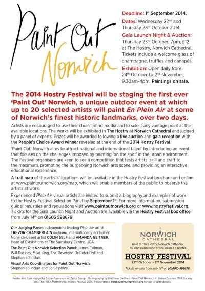 Paint Out Norwich 2014 A5 flyer back