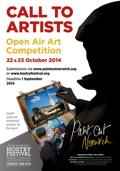 Paint Out Norwich 2014 A5 flyer front