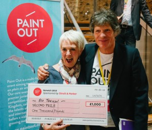 Mo Teeuw Paint Out Norwich Second Prize Strutt and Parker ©Matt Dartford