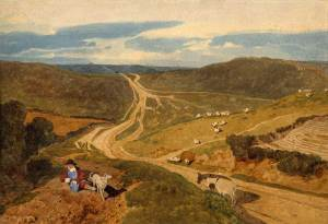 Mousehold Heath from Silver Road, painted by John Sell Cotman, 1810