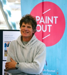 James Colman launching Paint Out Norwich 2015 photo by Matt Dartford