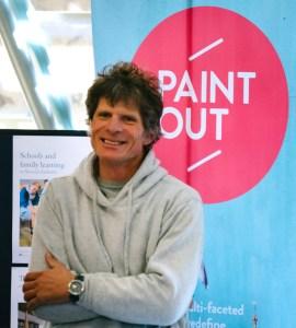 James Colman launching Paint Out Norwich 2015 photo by Matt Dartford