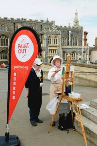 Paint Out artists Mary Kallagher and Jan Halliwell