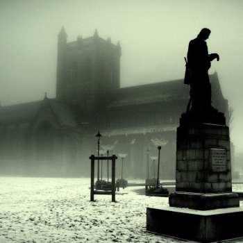 Paisley Abbey in mist taken by Edward Burns http:/www.thegoodsoupguide.co.uk