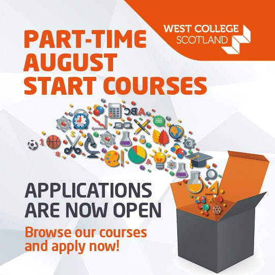 West College Scotland - part time courses starting August