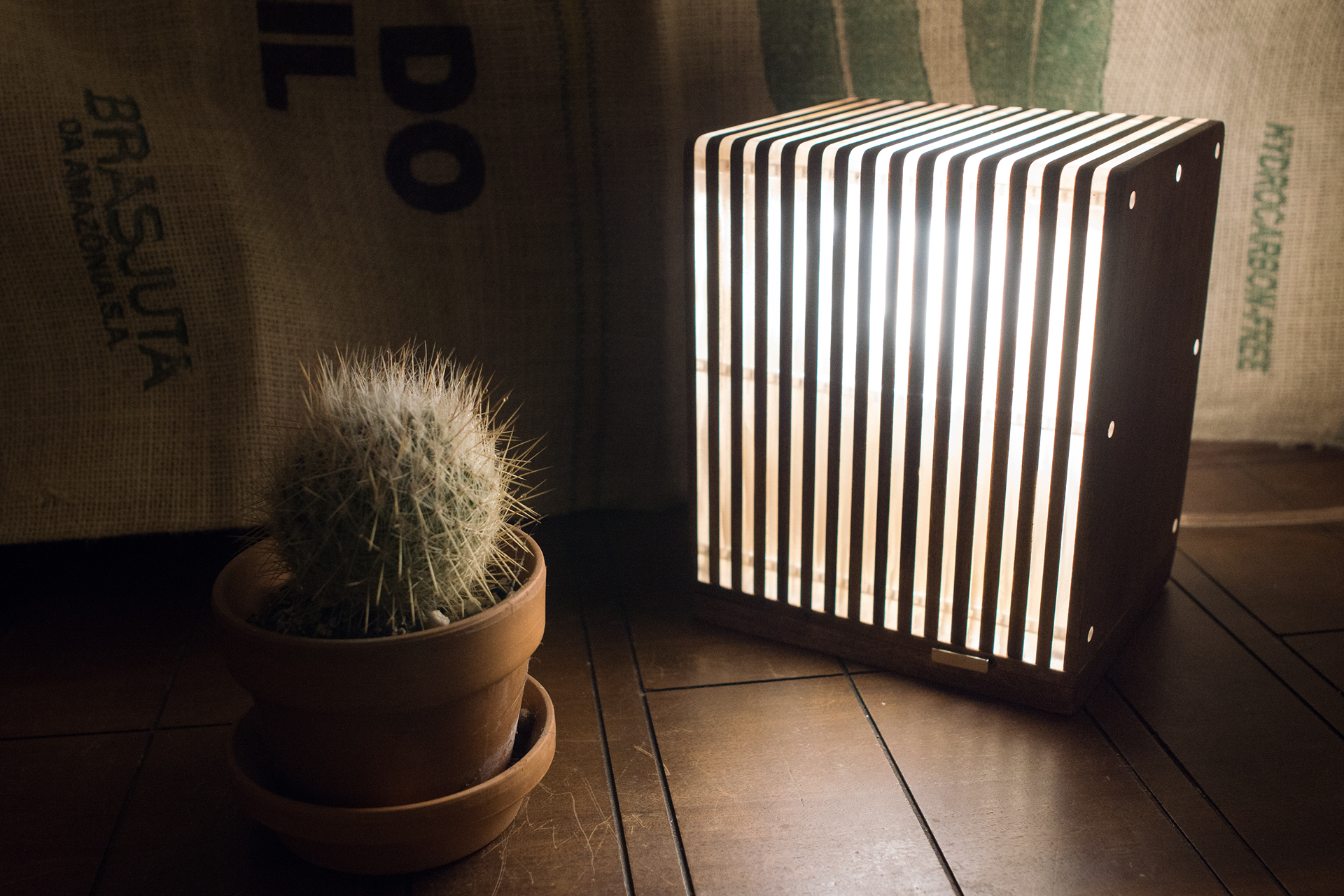 Poplar and Acrylic Stacklamp