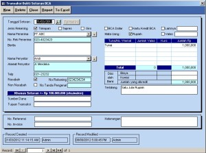 Software Slip Setoran BCA