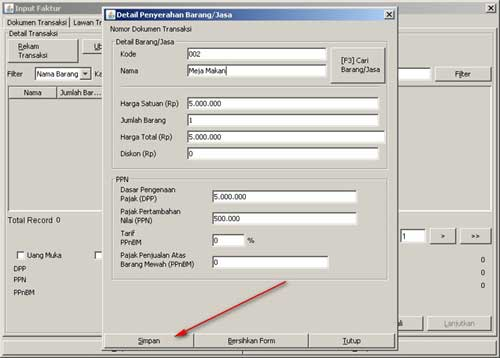 Aplikasi Program e-Faktur - Rekam Faktur Pajak Elektronik