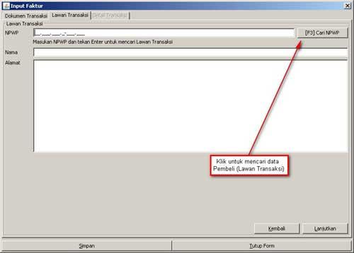 Program e-Faktur - Langkah Ke-2 Rekam Faktur Pajak