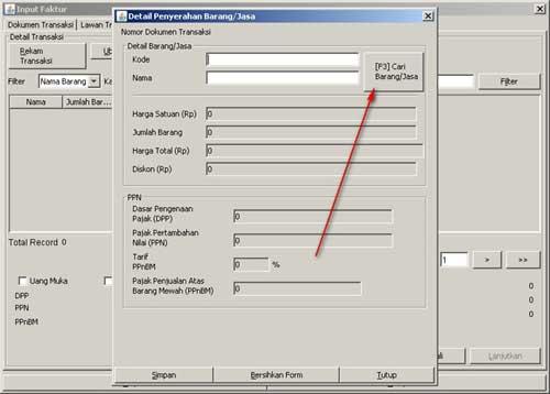 Program e-Faktur - Langkah Ke-7 Rekam Faktur Pajak