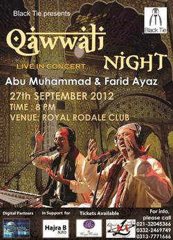 Event: Qawwali Night at Royal Rodale Club, Karachi - Sinde Pakistan