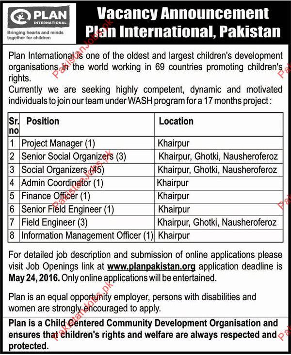 Project Manager, Social Organizers, Admin Coordinator, Finance