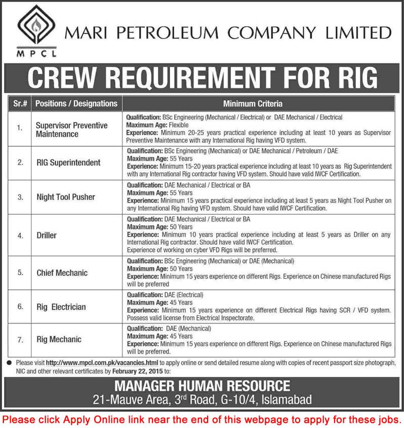 Mari Petroleum Jobs 2015 February Apply Online Mechanical - petroleum engineer job description