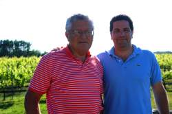 Father and son, Charles and Kareem Massoud at Paumanok winery.