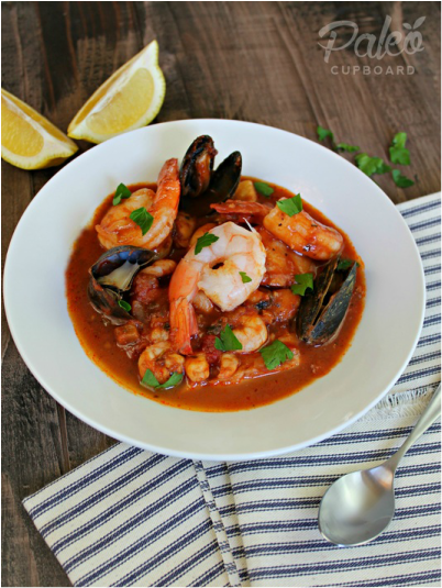 Paleo Clam with Tomato and Rice Soup