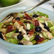 easy paleo recipe for a winter salad and maple vinaigrette