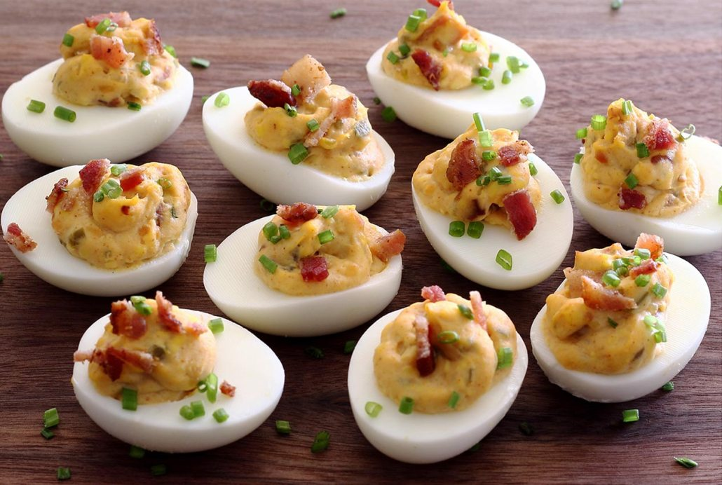 ... good deviled eggs and bacon mash-up you'd be proud to serve at any