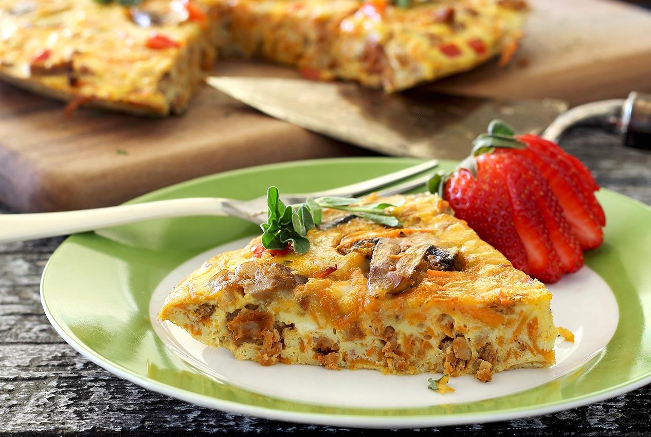 Paleo Frittata with Chorizo and Sweet Potato | Paleo Newbie