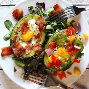 Avocado Baked Eggs Paleo Breakfast Recipe
