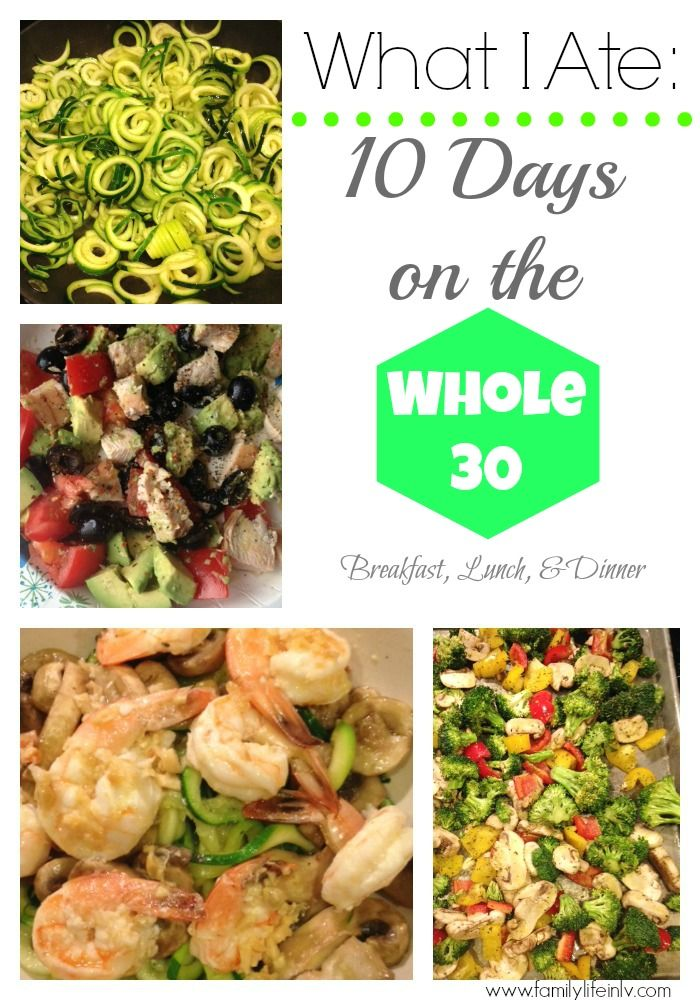 10 Days On The Whole 30 Breakfast, Lunch  Dinner - breakfast lunch and dinner meal plan for a week
